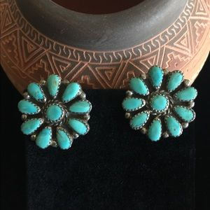 Sterling silver turquoise earrings 🌵